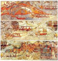 Minoan Miniature Frieze Admirals Flotilla Fresco