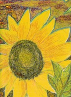 Yellow Sunflower Decorative Modern fine art painti