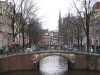 Amsterdam Canal in Winter 1