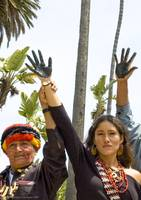 Black hand protest, Occidental Petroleum, Santa Mo