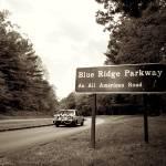 """Blue Ridge Parkway, sepia"" by kristihedberg"