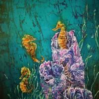 Ocean Dudes - Seahorses Art Prints & Posters by Sue Duda