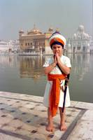 Sikh Boy at the Golden Temple