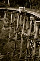Wooden rail bridge