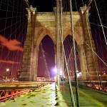 """Brooklyn Bridge at Night"" by SherriJackson"
