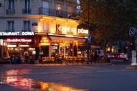 Paris cafe at night