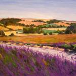 """""""Lavendar Fields"""" by kyaudeart"""
