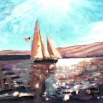 """Full Sail in San Diego Bay - by RD Riccoboni"" by BeaconArtWorksCorporation"