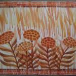 """Floral in Orange"" by vbrutoskyfineartist"