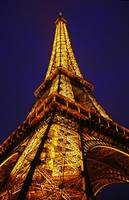 Eiffel Tower at Night, France