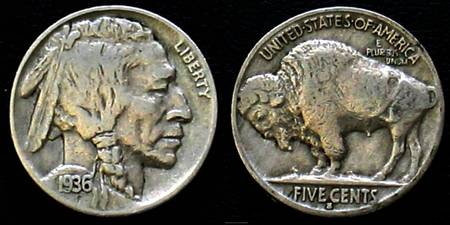 1936 Buffalo Head Nickle