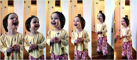 Collage of Talia laughing (made with Picnik)
