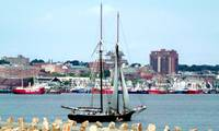 Ernestina Enters Harbor