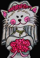 Bride To Be Kitty with Black Background