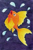 Orange Fish Jumping