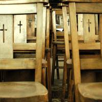 Holy Chairs Art Prints & Posters by Chez Morgan