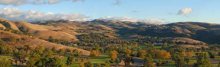 Autumn in the valley. California. Panorama