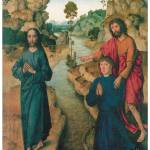 """Dieric Bouts Baptism of Jesus"" by ArtLoversOnline"