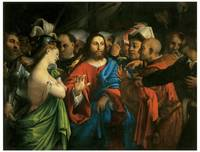 Lorenzo Lotto's Christ and the Adulteress