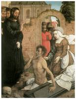 Juan De Flandes' The Raising of Lazarus