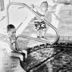 """Mahalia and Cannon at the Hotel Pool"" by Steve_Savage"