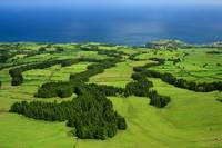 Typical Azores islands landscape