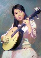 Girl with Chinese Guitar