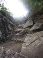 Steps up to Wayna Picchu