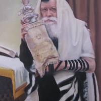 """Rebbe with Torah"" by Moyses_Jerussalmy"