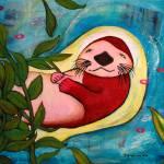 """""""Sleepy Sea Otter"""" by BoboJunket"""