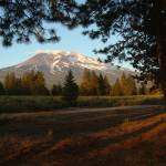 """Mount Shasta Summer Snow"" by BobFikePhoto"