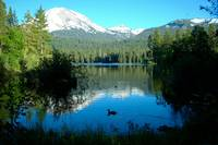 Relaxed at Manzanita Lake - Mount Lassen