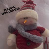 Snowman Holiday Folk Art