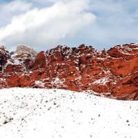 Red Rock Snow, Panoramic No. 2 Art Prints & Posters by Benjamin Padgett