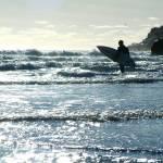 """Lone Surfer Ano Nuevo Beach"" by BobFikePhoto"