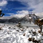 """Snow and Clouds, Red Rock Canyon"" by PadgettGallery"