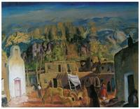 George Bellows' Pueblo, Tesuque, Number One