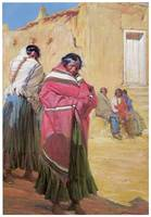 Gerald Cassidy's Indians Outside Taos Pueblo
