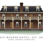 """Page-Walker Hotel in Cary, North Carolina"" by ArchiPrints"