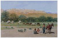 Henry Farny's Indian Encampment