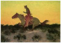 Frederic Remington's Against the Sunset