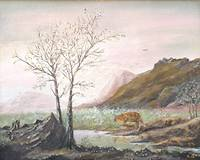 Landscape with mountain lion