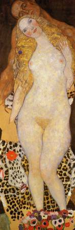 Gustav Klimt's Adam and Eve