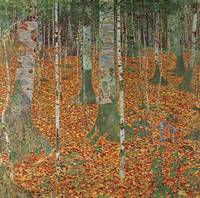 Gustav Klimt's Birch Forest
