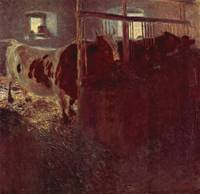 Gustav Klimt's Cows in the Stable