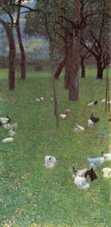 Gustav Klimt's Garden with Chickens in St Agatha