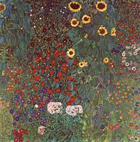 Gustav Klimt's Garden with Sunflowers