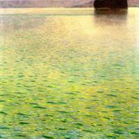 Gustav Klimt's Island in the Attersee