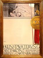 Gustav Klimt's Poster for an Exhibition