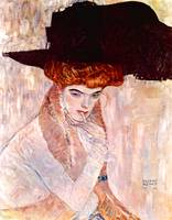 Gustav Klimt's The Black Hat